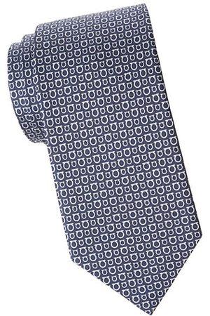 Salvatore Ferragamo Mixed Size Gancini Silk Tie