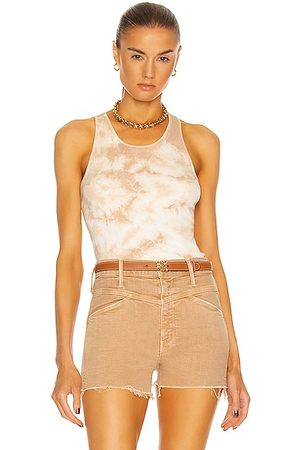 ENZA COSTA Supima Cotton Racer Tank in Sand Ionic