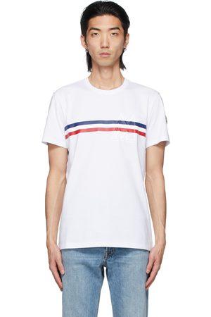 Moncler Tricolor Stripe Logo T-Shirt