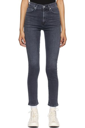 Citizens of Humanity Black Olivia High Rise Slim Jeans
