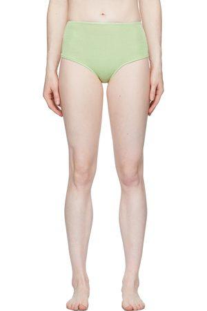Calle Del Mar Green Knit Panty Briefs