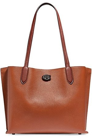 Coach Willow Colorblock Leather & Signature Coated Canvas Tote