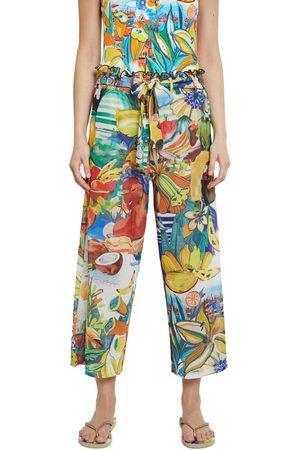 Desigual Women Trousers - Fiji Pant - Lime