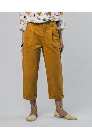 Brava Fabrics Inka Gold Pleated Pants