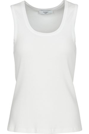 A LINE Ribbed tank top with square neckline