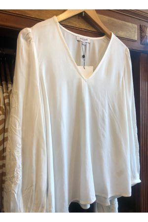 Great Plains Abbi Embroidery V Neck Top