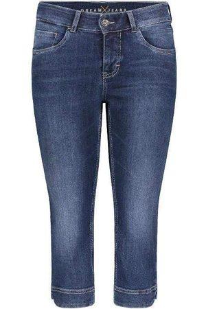 Mac Women Parkas - Mac Dream Capri Cropped Jeans 5469 0355 D853 Dark Used Denim N