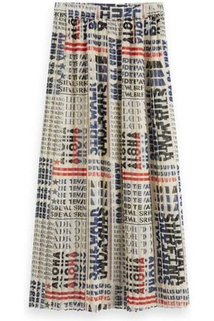 Scotch&Soda Printed skirt with pleats