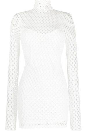 Philipp Plein Women Party Dresses - Mesh-overlay long-sleeve minidress