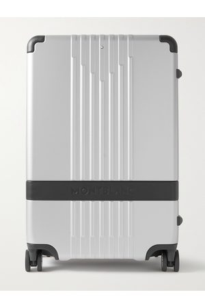 Mont Blanc Men Luggage - #MY4810 Medium 61cm Leather-Trimmed Polycarbonate Suitcase
