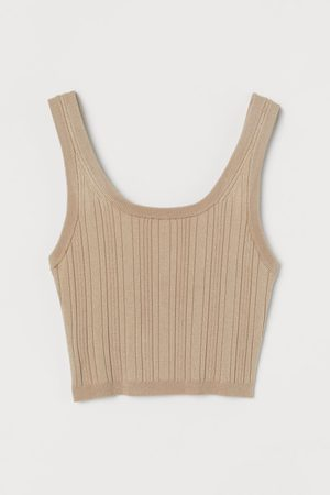 H&M Women Crop Tops - Ribbed cropped top