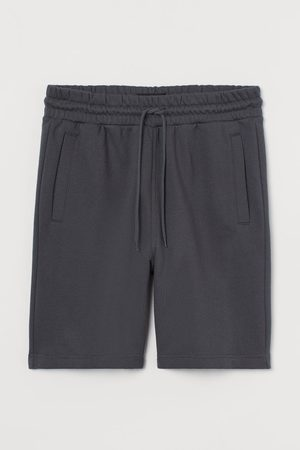 H&M Men Sweatshirts - Regular Fit sweatshirt shorts - Grey