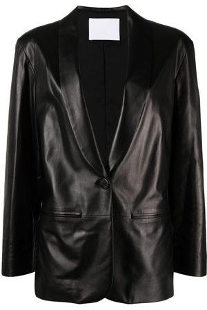 DROME Women Blazers - Slim-cut leather blazer