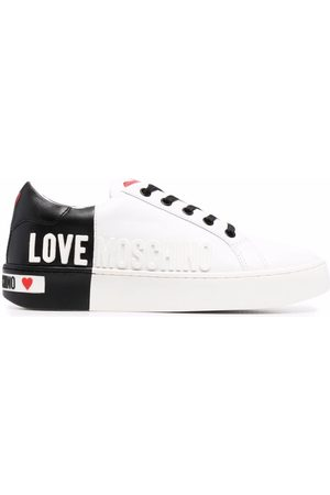Love Moschino Logo-embossed low-top sneakers
