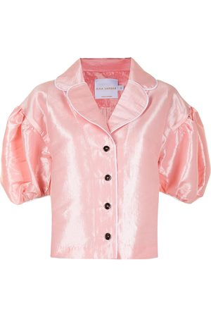 Kika Vargas Antonia short puff-sleeved jacket