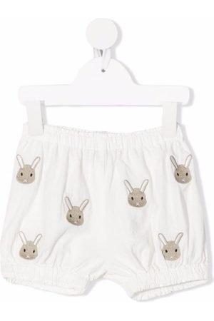 Donsje Rabbit motif-embroidered shorts