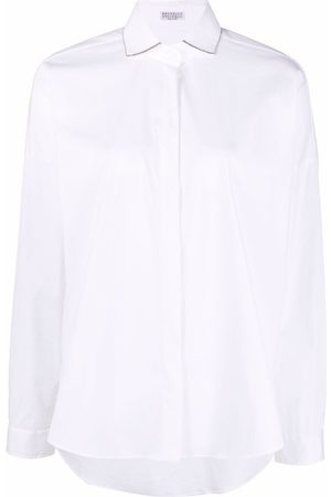 Brunello Cucinelli Metallic-trim shirt