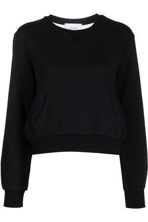 Marchesa Notte Women Sports sweatshirts - Sheer panel sweatshirt