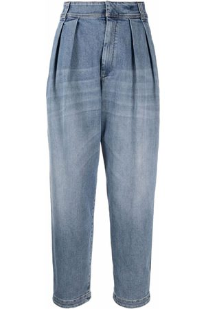 Brunello Cucinelli Women Tapered - Tapered wide-leg jeans