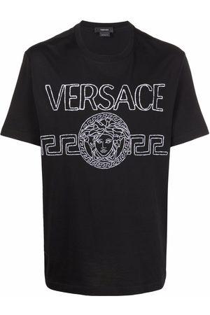 VERSACE Men Short Sleeve - Logo-embroidered T-shirt