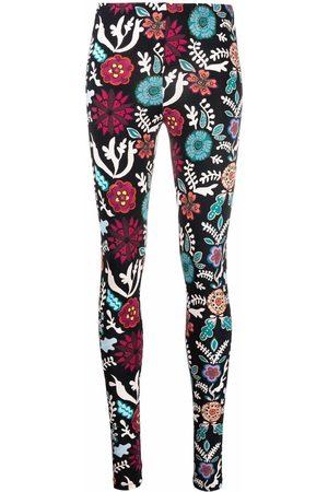La DoubleJ Women Stretch Trousers - Floral-print stretch leggings