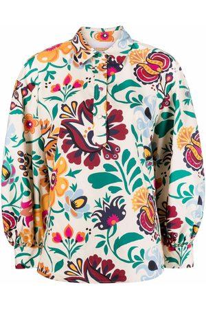 La DoubleJ Women Long Sleeve - Poet floral-print shirt