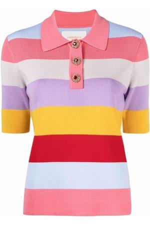 La DoubleJ Striped polo top