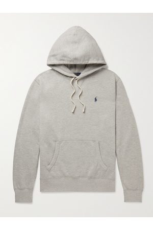POLO RALPH LAUREN Men Hoodies - Logo-Embroidered Cotton-Blend Jersey Hoodie