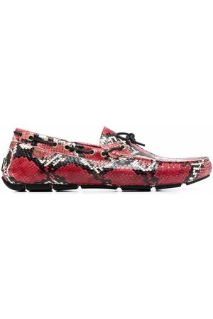 Giuliano Galiano Men Loafers - Mike python-effect leather moccasins