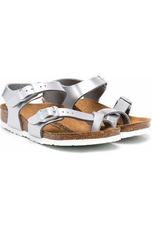 Birkenstock Taormina metallic-effect sandals