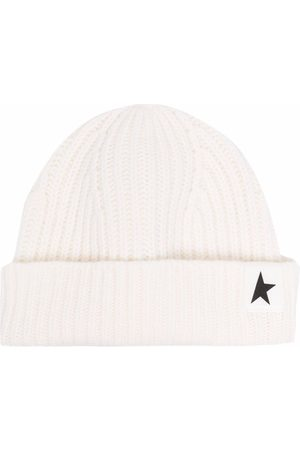 Golden Goose Beanies - Star patch ribbed beanie