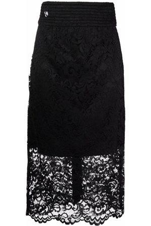 Philipp Plein Women Skirts - High-waisted lace skirt