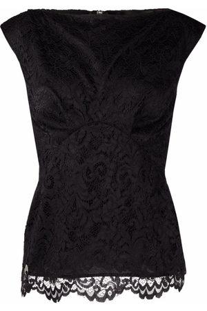 Philipp Plein Lace-patterned sleeveless blouse