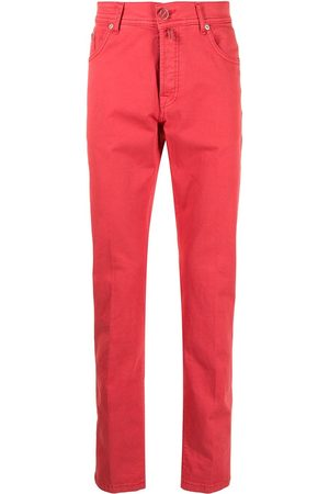 Kiton Straight-leg five-pocket jeans
