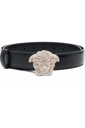 VERSACE La Medusa crystal-embellished belt
