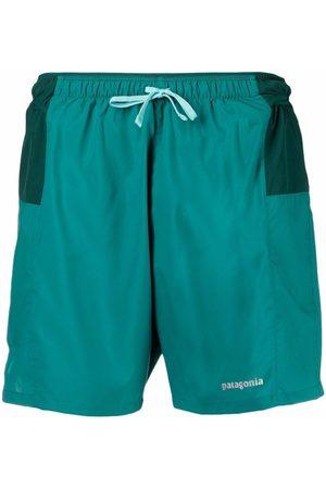 Patagonia Men Swim Shorts - Logo drawstring swim shorts