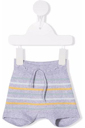 KNOT Shorts - Striped ribbed-knit shorts