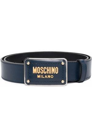 Moschino Men Belts - Enamelled buckle belt