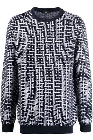 Balmain Motif-print long-sleeve jumper