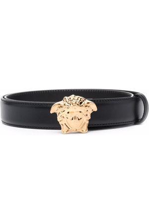 VERSACE Men Belts - La Medusa leather belt