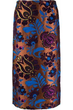 La DoubleJ Women Printed Skirts - Patterned-jacquard pencil skirt