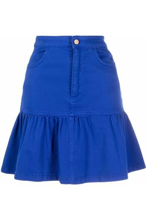 See by Chloé Women Skirts - Gathered-detail high-waisted skirt