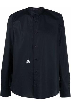 Philipp Plein Embroidered-skull shirt