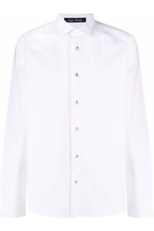 Philipp Plein Skull-detail stretch-cotton shirt