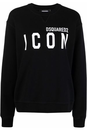 Dsquared2 Women Long Sleeve - Logo-print long-sleeved sweatshirt