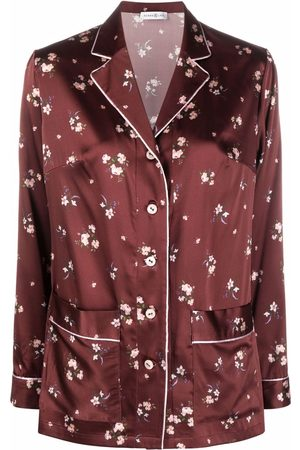 Roses & Lace Women Long Sleeve - Floral-print silk shirt