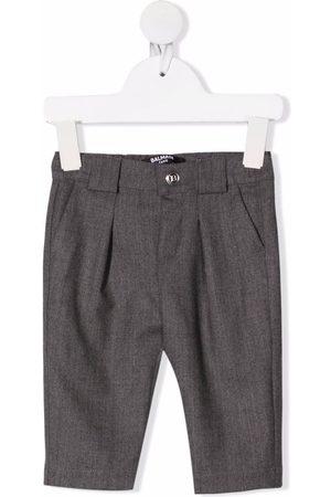 Balmain Kids Virgin wool straight-leg trousers