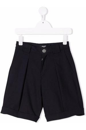 Balmain Virgin wool-blend tapered shorts