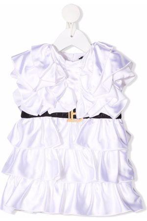 Balmain Belted ruffled dress