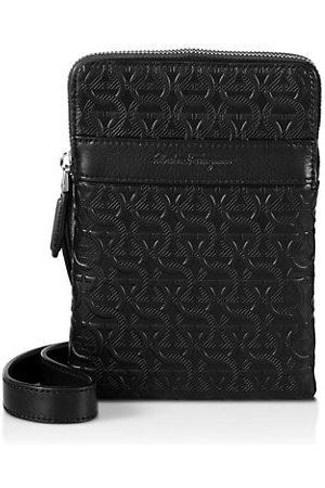 Salvatore Ferragamo Embossed Leather Crossbody Pouch